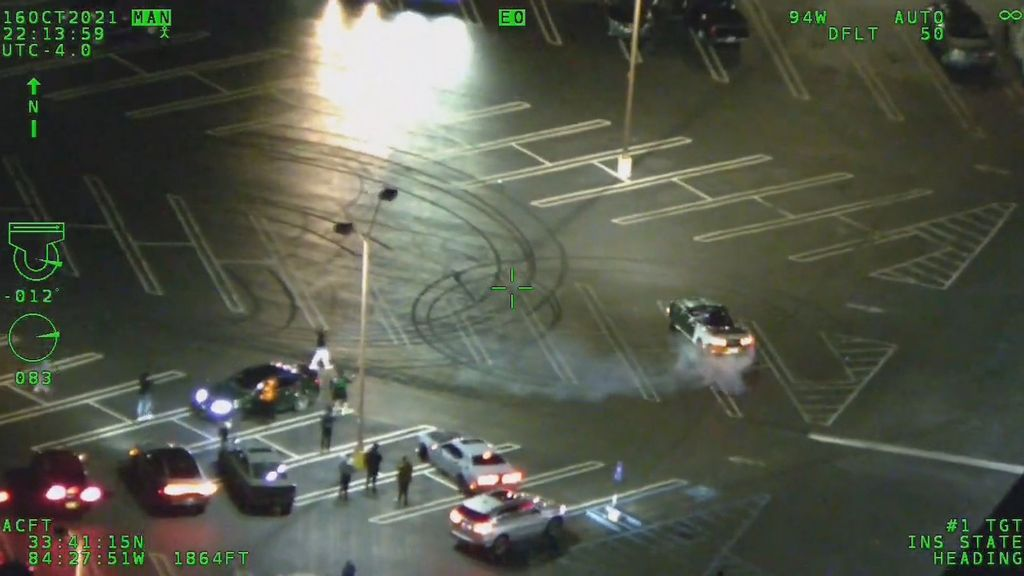 VIDEO: Just Doughn't: Police Seize Street Race Driver Doing Stunts In Parking Lot