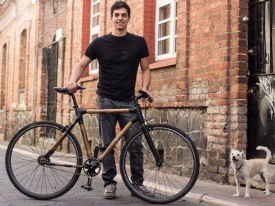 Diego Cárdenas founded Bamboocycles, bicycles made of bamboo. (Cortesía de Diego Cárdenas)